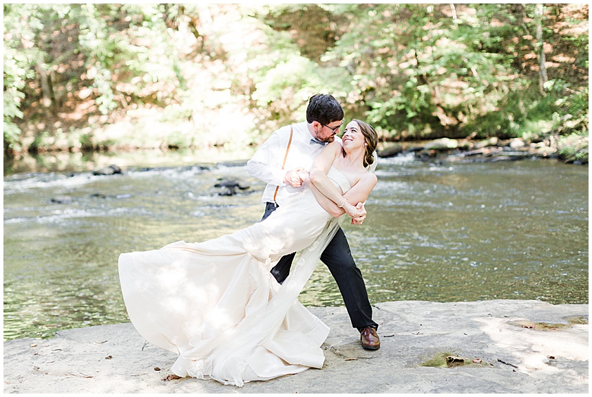 Elizabeth & Trent's Intimate Wedding | Swann Lake